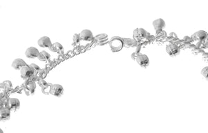 Silver Anklets with Ghughri Bell Charms (A-7156)
