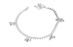 Silver Anklets with Ghughri Bell Charms A-7162 - Single