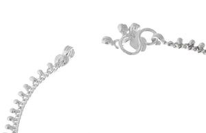 Silver Anklets with Ghughri Bell Charms A-7162 - Close Up_2