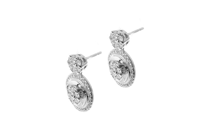 18ct White Gold Diamond Stud Earrings (A-E39418-11)
