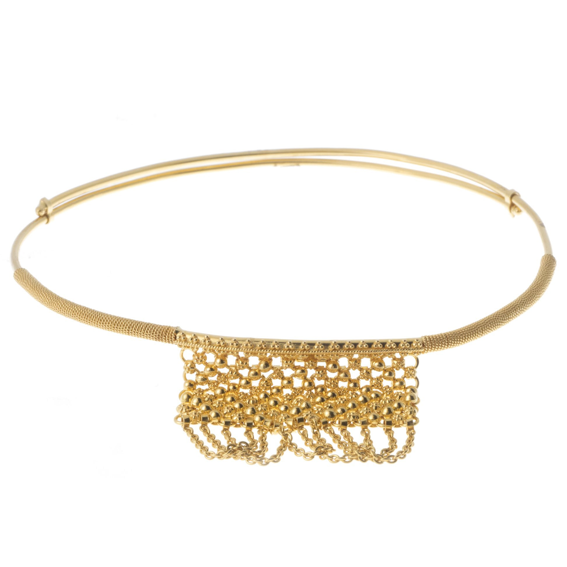 22ct Gold Adjustable Armlet with Filigree Design (22.1g) AR-6996