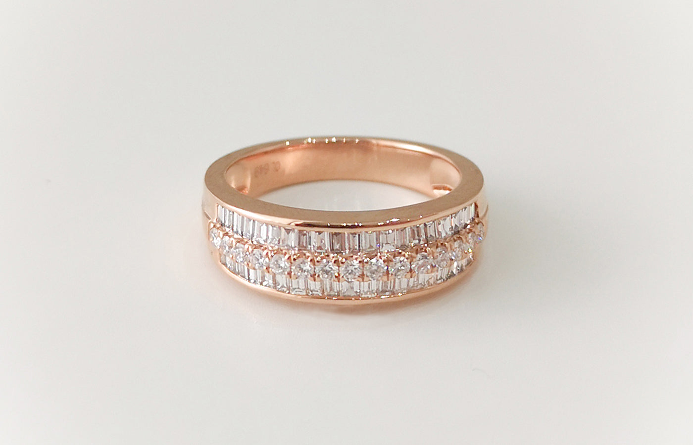 18ct Rose Gold Diamond Eternity Ring AR41690-10