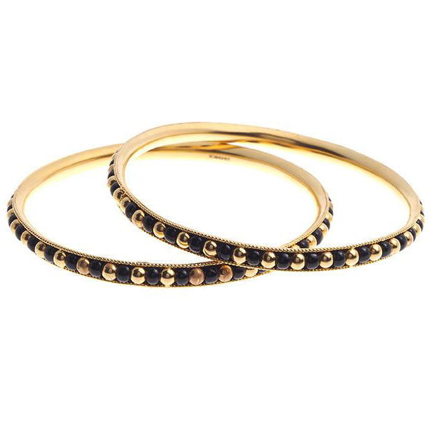 2 x 22ct Yellow Gold Bangles (32.2g) B-4090