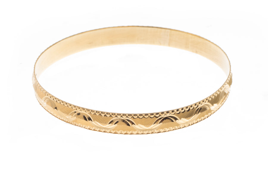 22ct Gold Diamond Milled Bangles B-5420