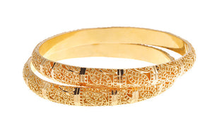 22ct Gold Bangles with Filigree Design (B-5447)