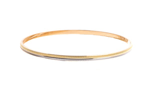 22ct Gold Bangles with rhodium design (B-6210)