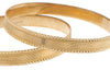2 x 22ct Gold Bangles with diamond cut design (B-6271) (online price only)