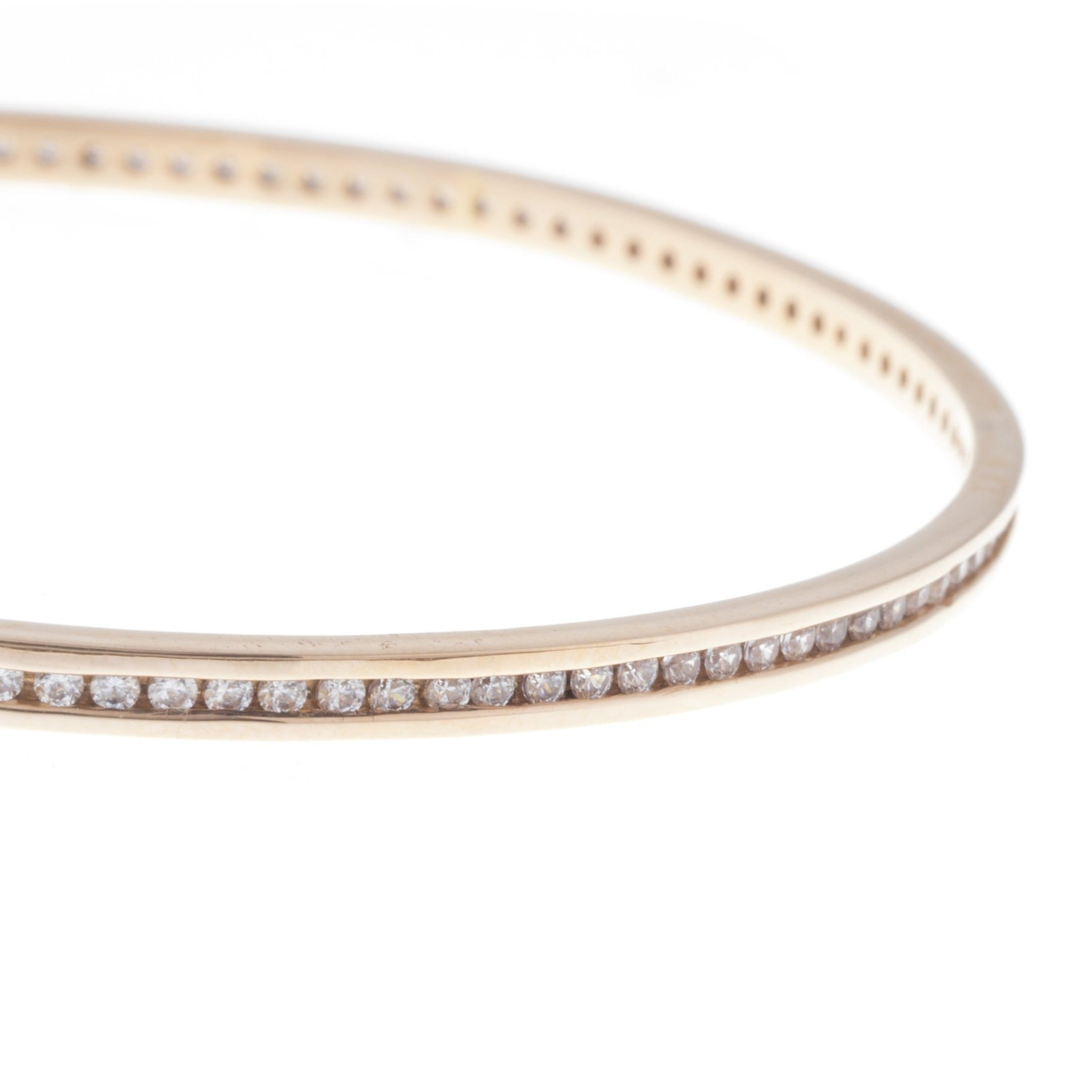 18ct Rose Gold Cubic Zirconia Bangles B-7333