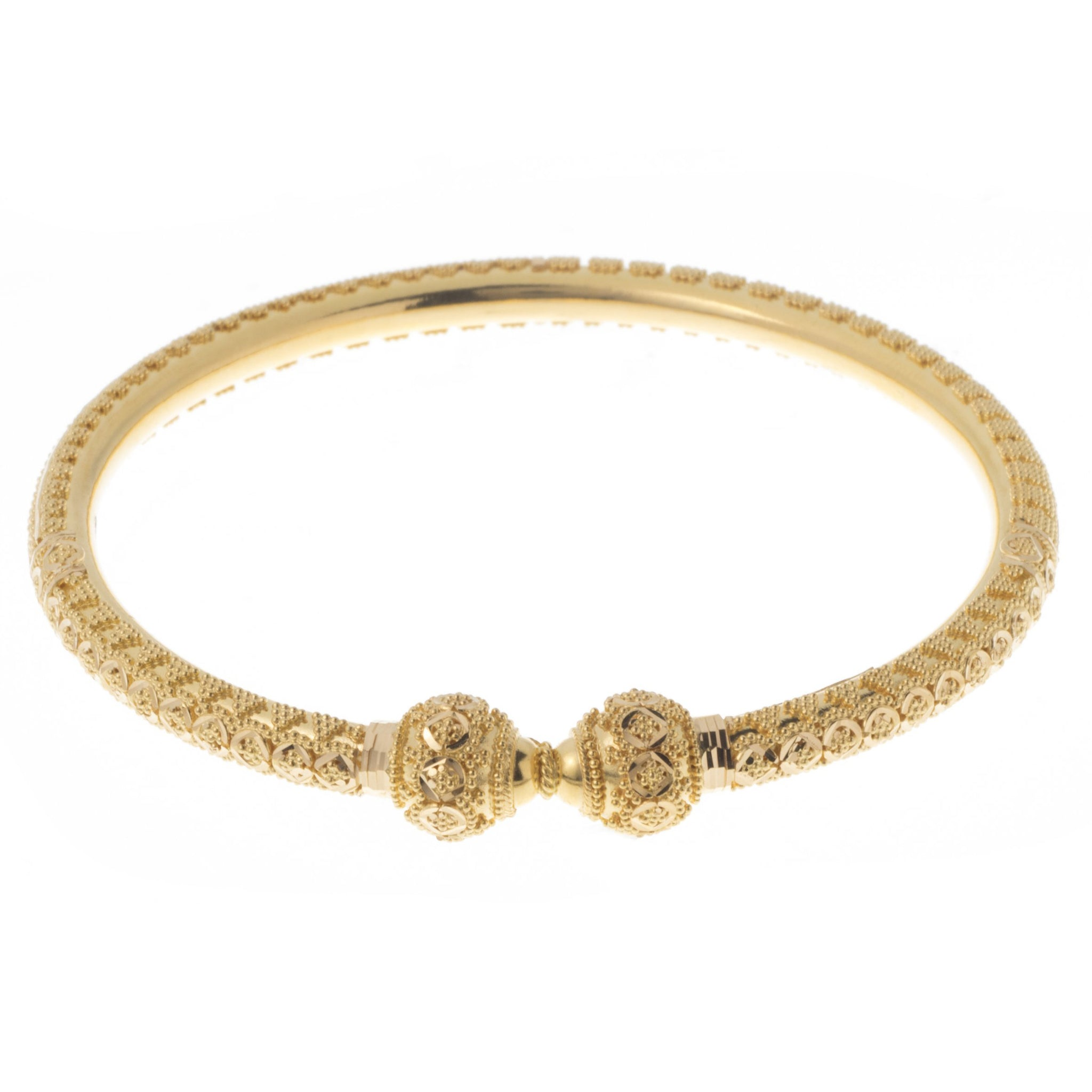 242db7998c52d 22ct Gold Bangles with Diamond Cut Design and Comfort Fit B-7402