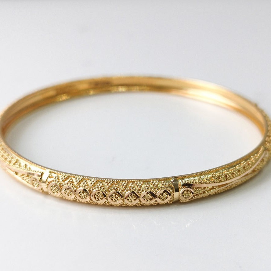 22ct Gold Filigree Design Bangles (set of six) B-7588