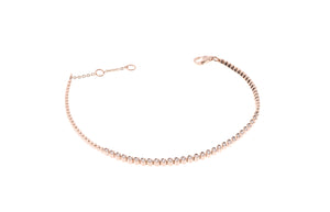 18ct Rose Gold Diamond Bracelet (B32021C-3001)