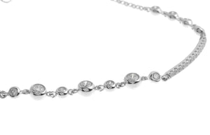 18ct White Gold Diamond Bracelet (B43645-2)