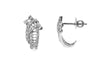 18ct White Gold Earrings set with Cubic Zirconia stones (BET11041)