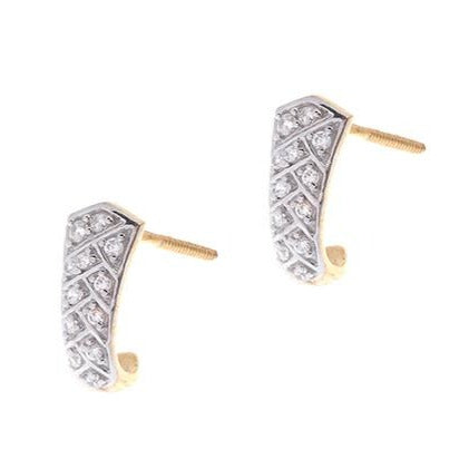 22ct Gold Earrings set with Cubic Zirconia stones (3.67g) BET14003