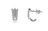 18ct White Gold Earrings set with Cubic Zirconia stones (BET14004)