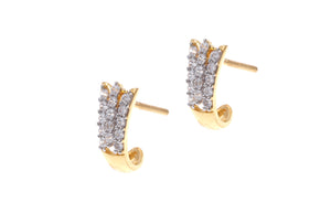 22ct Gold Earrings set with Cubic Zirconia stones (3.92g) (BET14004)