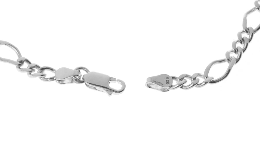 Sterling Silver Gents Figaro Chain BN005