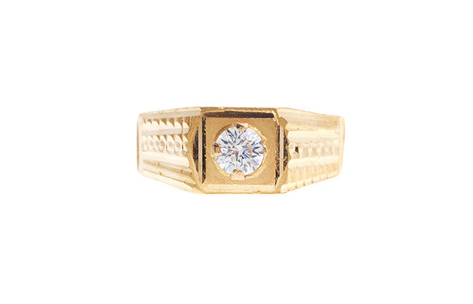 22ct Gold Cubic Zirconia Children's Ring (2.5g) BR-5787