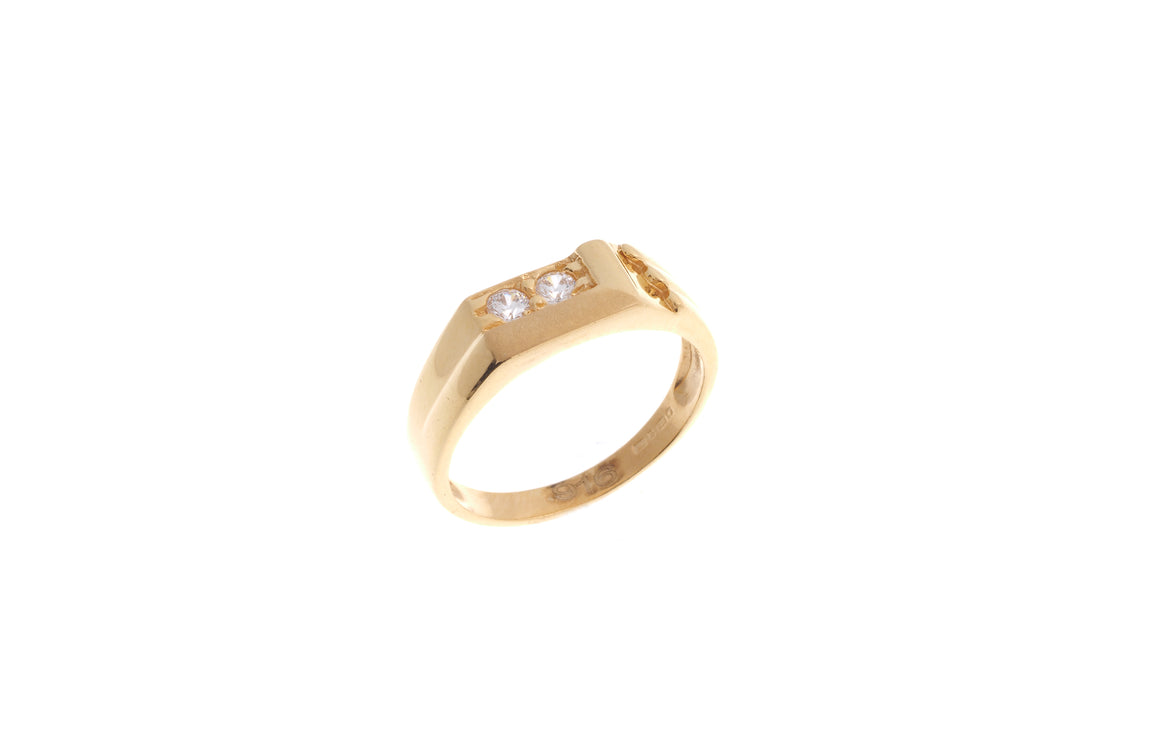 22ct Yellow Gold Cubic Zirconia Children's Ring (BR-6897)