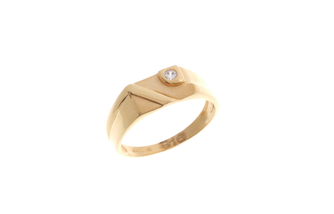 22ct Yellow Gold Cubic Zirconia Children's Ring (BR-6898)