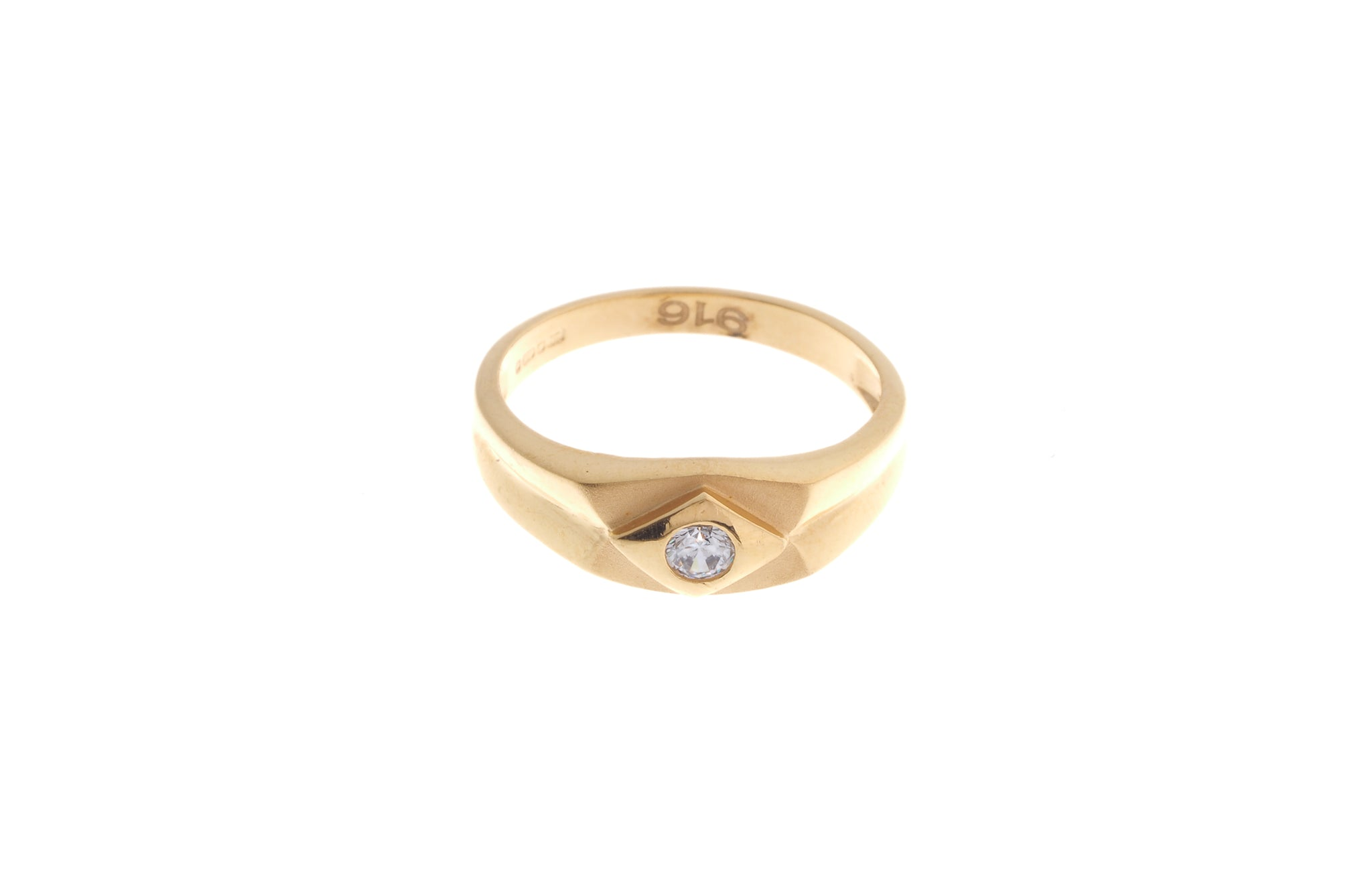 22ct Gold Cubic Zirconia Children's Ring (2.2g) BR-6899