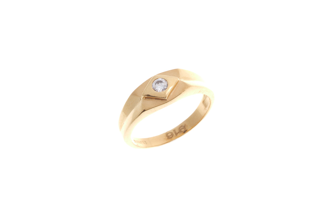 22ct Yellow Gold Cubic Zirconia Children's Ring (BR-6899)