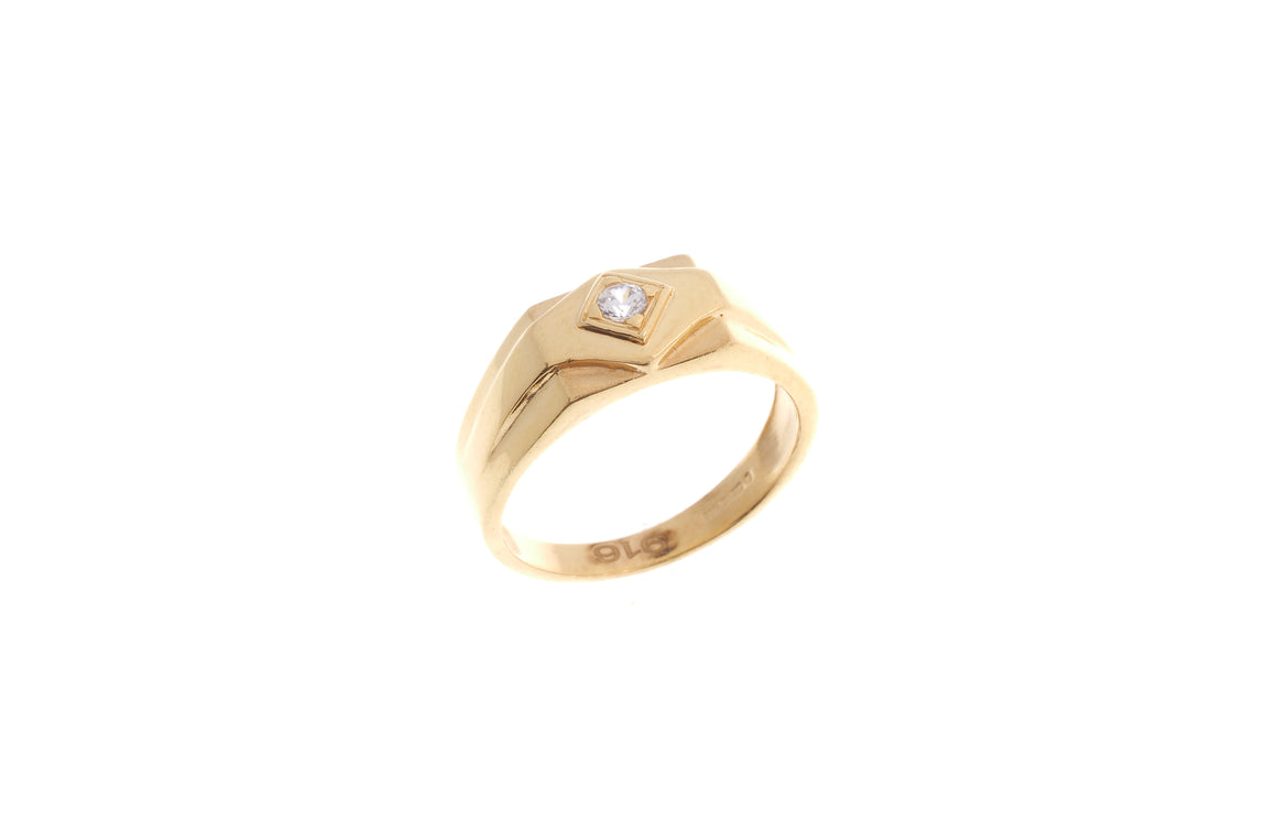 22ct Yellow Gold Cubic Zirconia Children's Ring (BR-6903)