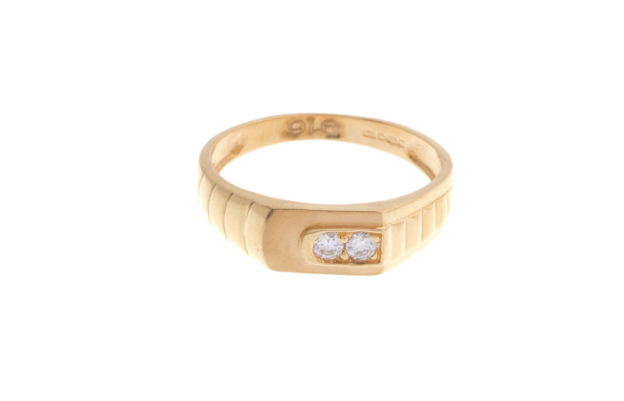 22ct Gold Cubic Zirconia Children's Ring (2g) BR-6904