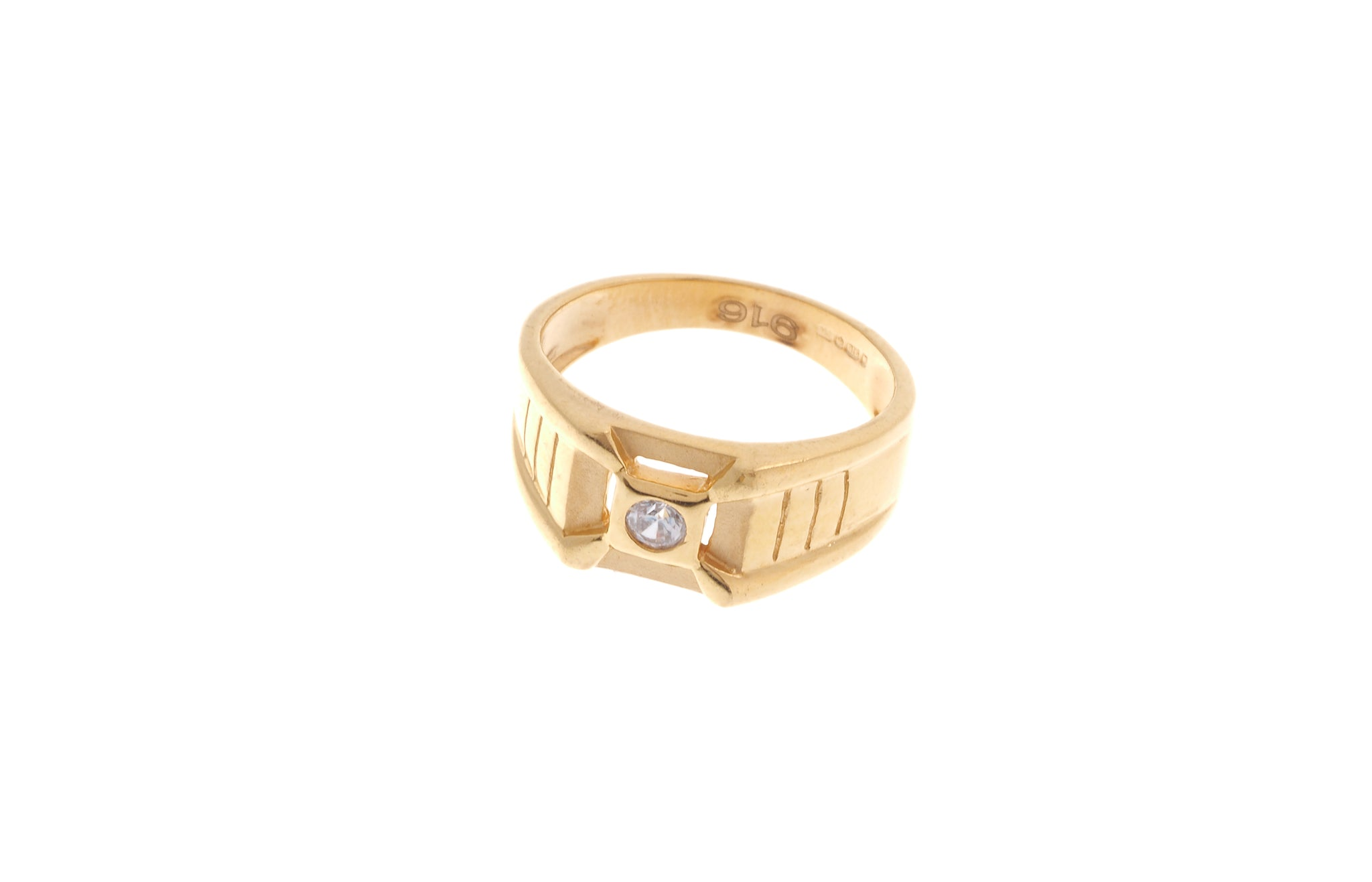 22ct Gold Cubic Zirconia Children's Ring (2.9g) BR-6905