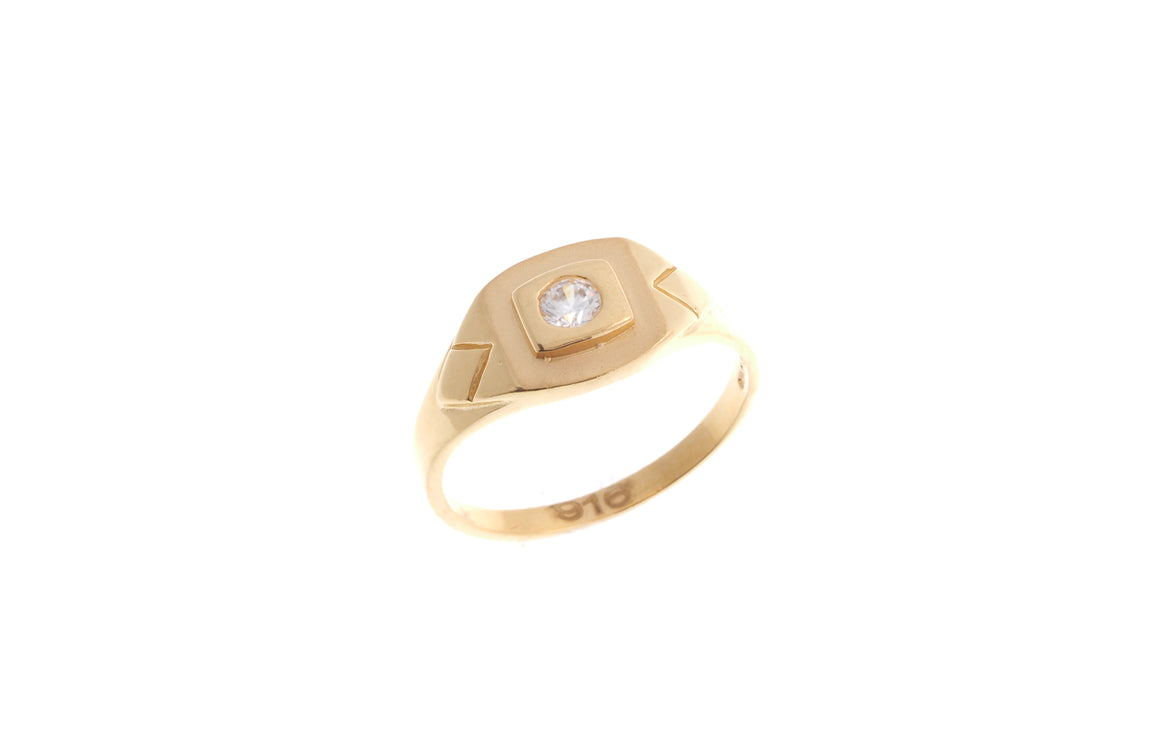 22ct Yellow Gold Cubic Zirconia Children's Ring (BR-6909)