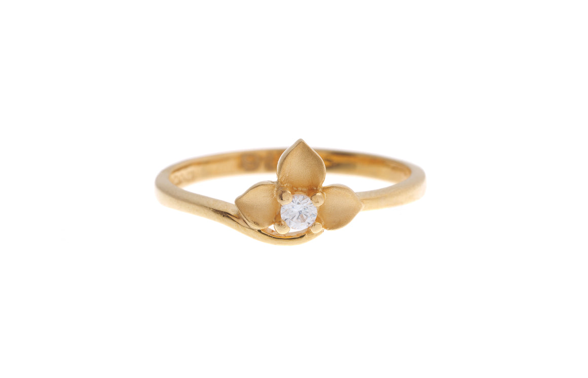 22ct Yellow Gold Cubic Zirconia Children's Ring (BR-6910)
