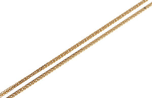 18ct Yellow Gold Chain with Heart Charm Clasp (C-10612)
