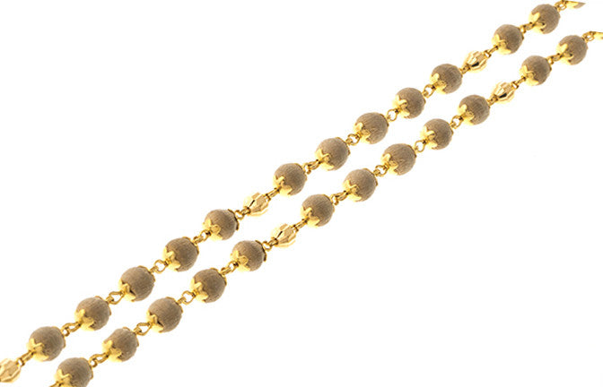 22ct Gold Tulsi Bead Mala Chain (11.3g) (C-1176)