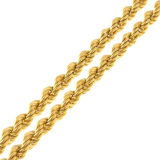 22ct Gold Rope Chain with Lobster Clasp (C-1216)