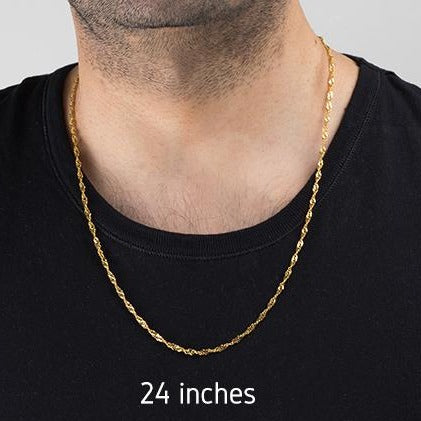 22ct Gold Ripple Unisex Chain with Lobster Clasp (C-2803)