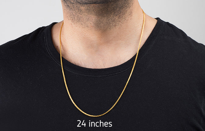 22ct Gold Spiga Unisex Chain with Lobster Clasp (C-2804)