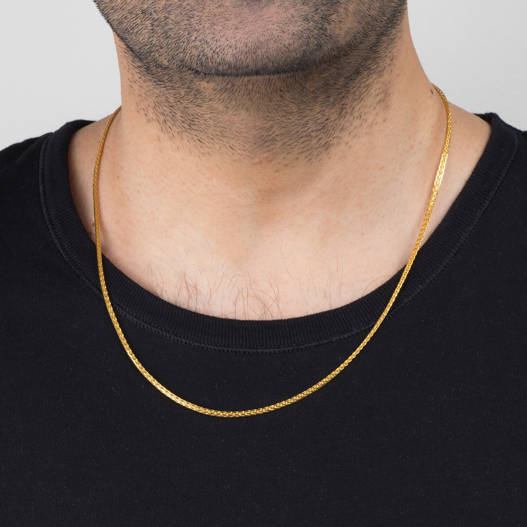 22ct Gold Unisex Chain with a lobster clasp C-2805