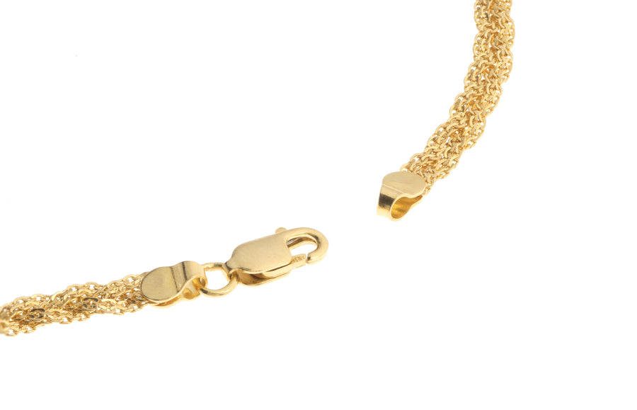 22ct Gold Fancy Ribbon Chain with Lobster Clasp (C-2820)