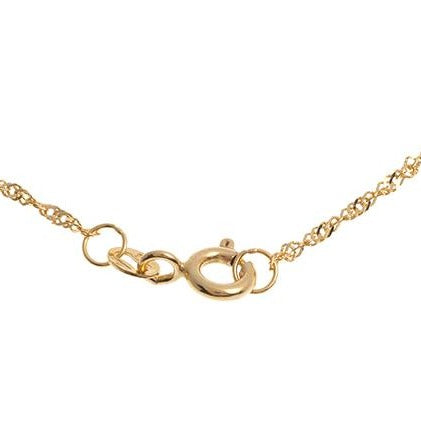 22ct Gold Ripple Chain with a ring clasp C-2821