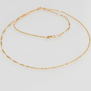 22ct Gold Ripple Chain with a ring clasp (C-2821)