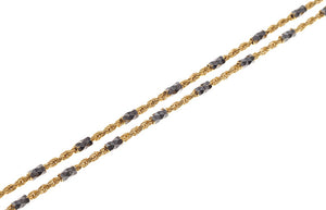 18ct Two Tone Gold Chain (C-3480)