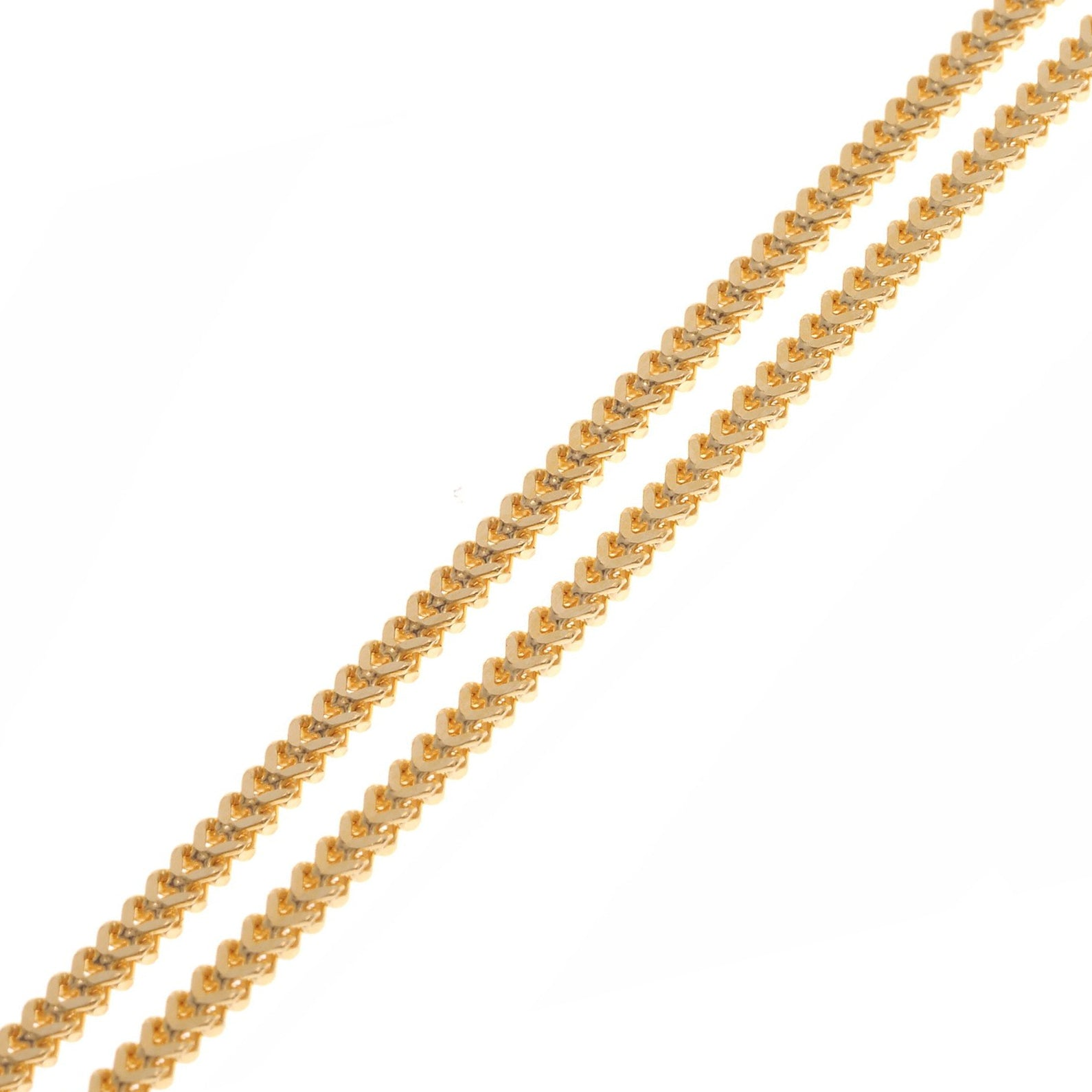 22ct Gold Unisex Foxtail Chain with a lobster clasp (C-3796)