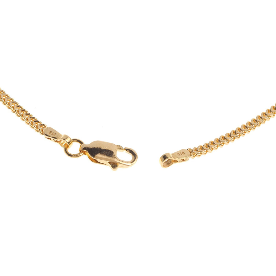 22ct Gold Unisex Foxtail Chain with a lobster clasp C-3796