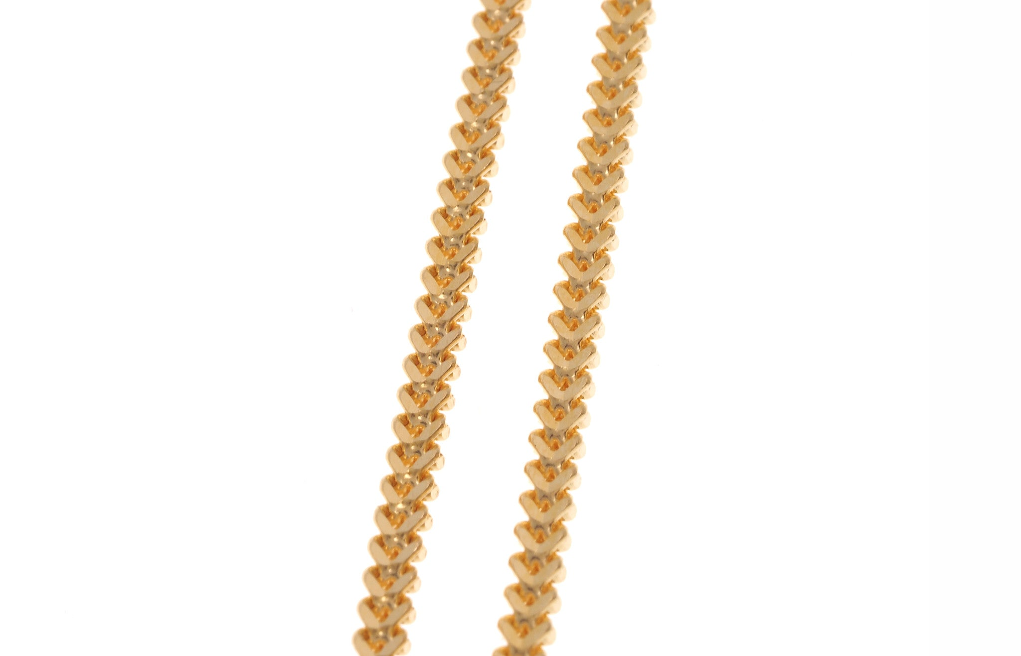 22ct Gold Unisex Foxtail Chain with a lobster clasp (10.7g) C-3796
