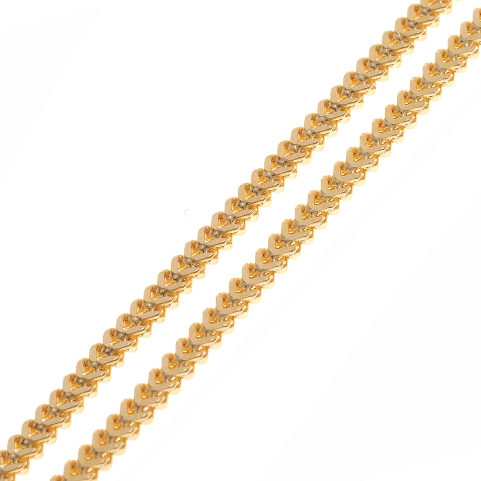 22ct Gold Foxtail Unisex Chain with a lobster clasp C-3799