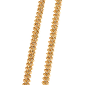 22ct Gold Foxtail Chain with a lobster clasp (C-3799)