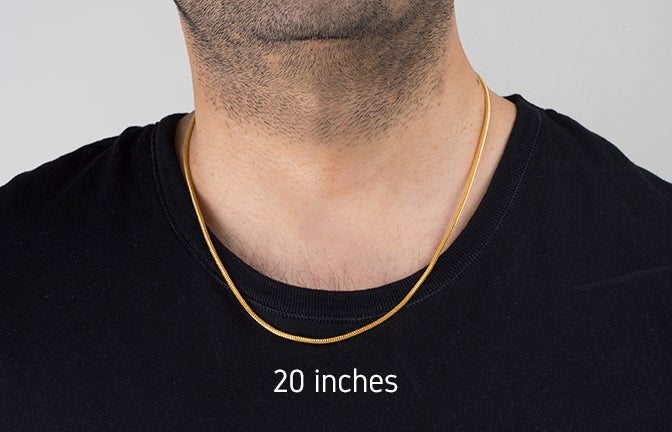 22ct Gold Hollow Unisex Chain with a lobster clasp (C-4262)