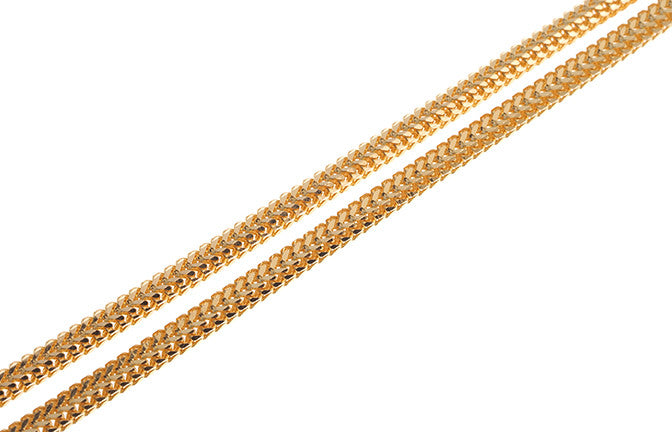 22ct Gold Hollow Unisex Chain with a lobster clasp C-4262