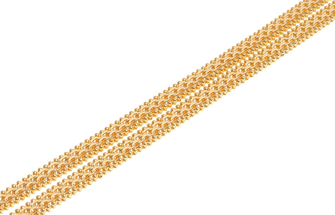 22ct Gold Unisex Flat Chain with Lobster Clasp (C-4615)