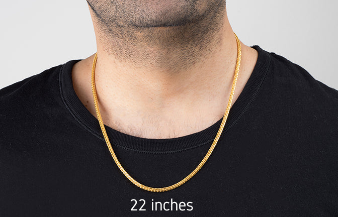 22ct Gold Unisex Chain with a lobster clasp (C-4616)